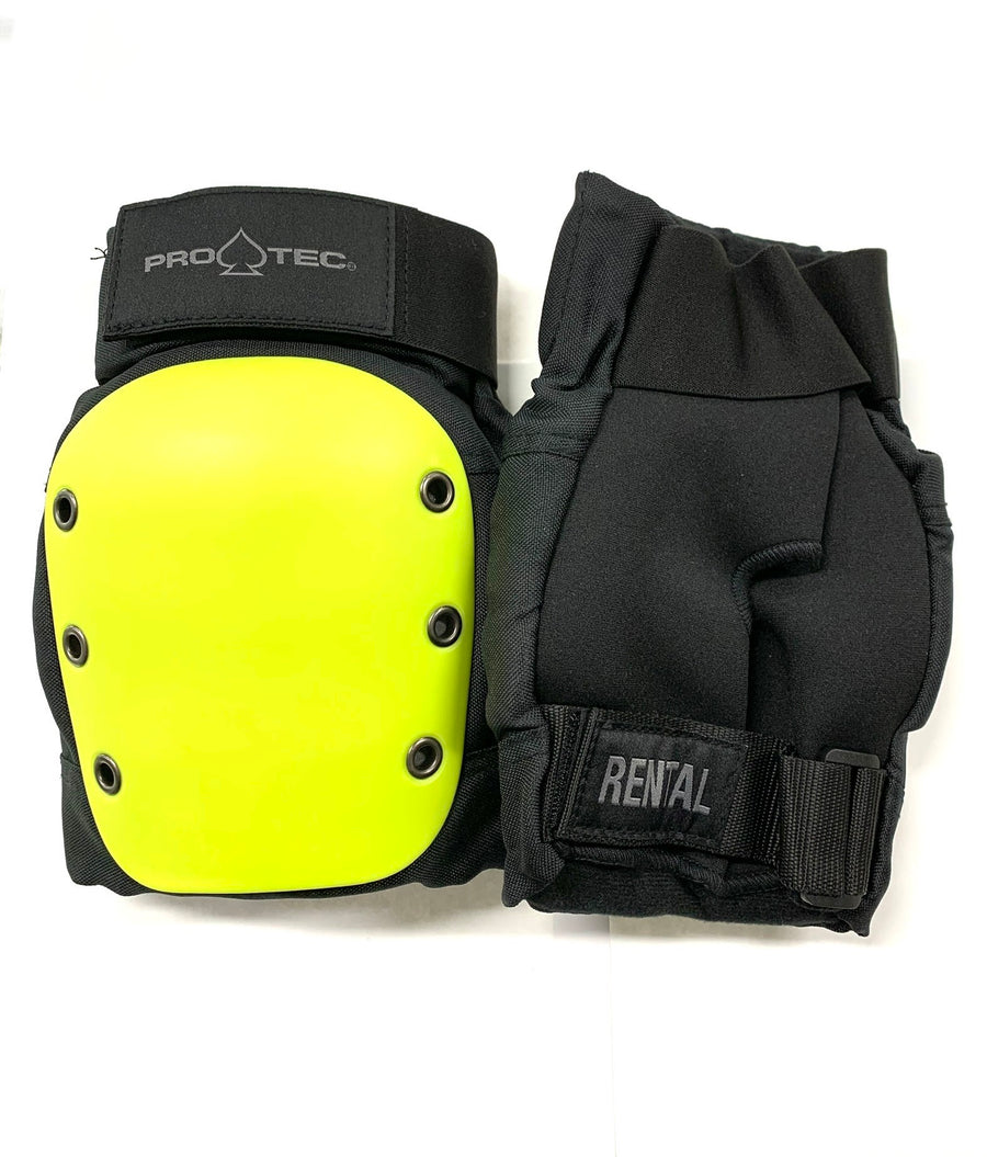 Pro-Tec Adult Rental Neon Yellow/Black Knee Pads