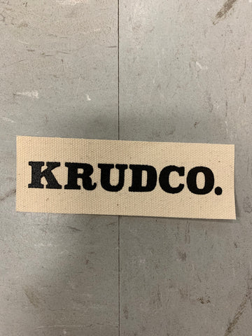 Krudco. Skateshop Name Logo Punk Patch