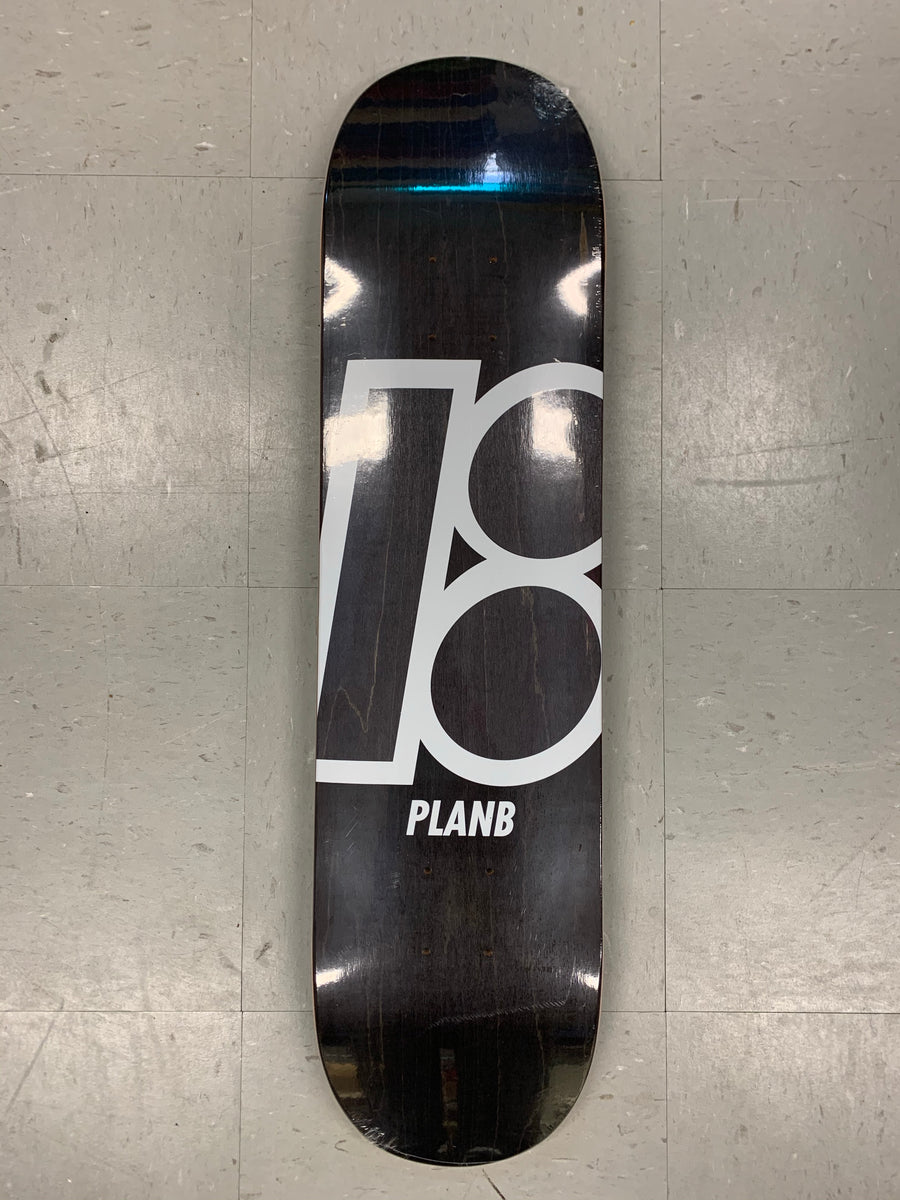 Plan B Skateboards Team Stain Charcoal Deck
