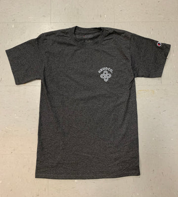 Krudco Skateshop Knot Logo Champion Grey T-Shirt