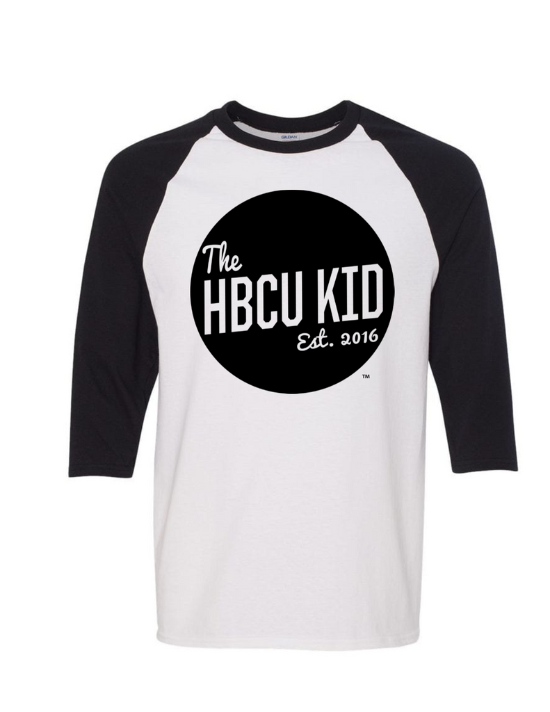 HBCU Kid Badge Adult Raglan Tee - The HBCU Kid