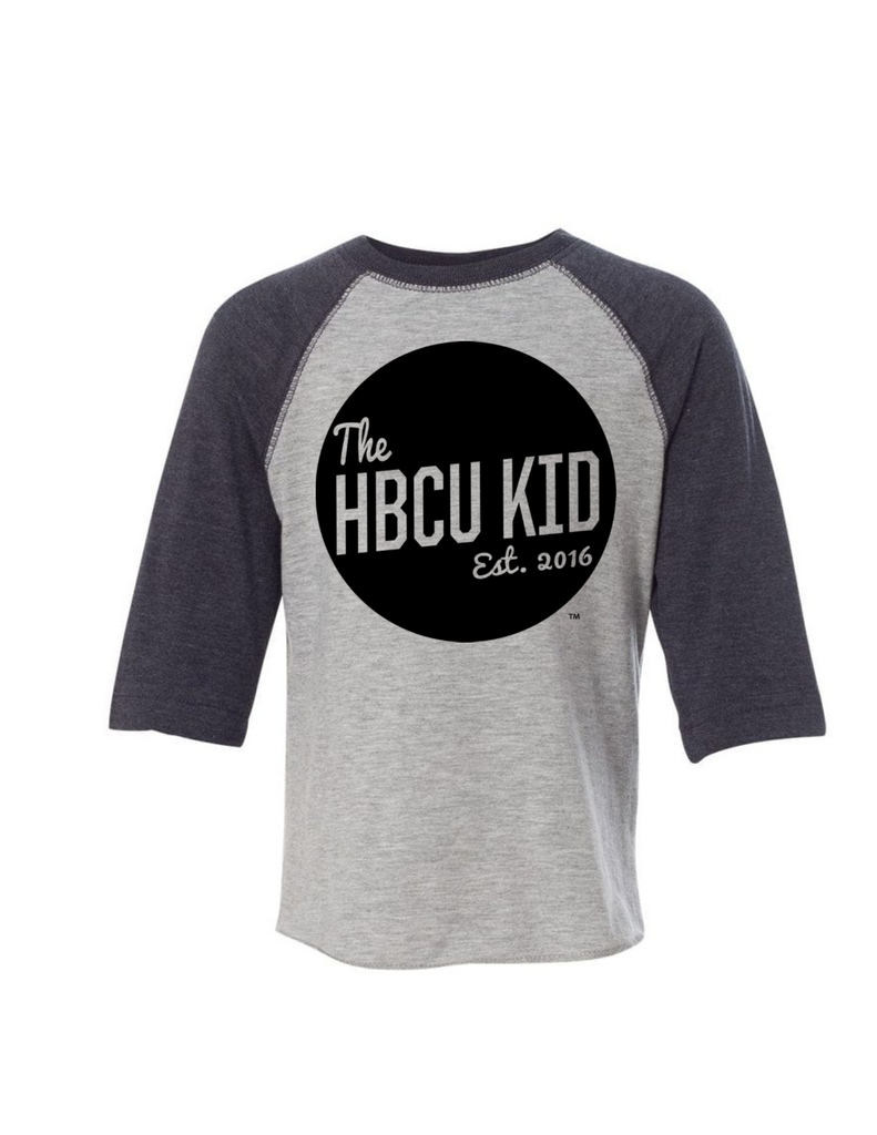 HBCU Kid Badge Toddler Raglan Tee - The HBCU Kid