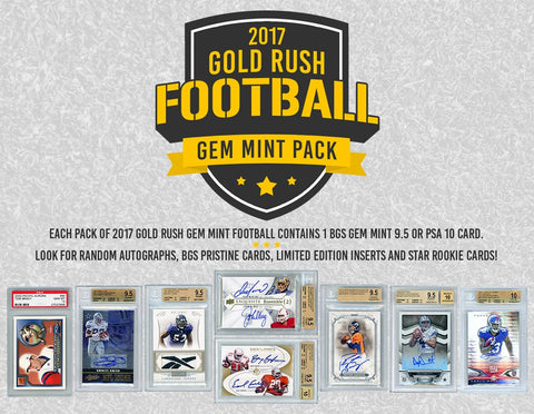 2017 Gold Rush Gem Mint Football 12 Pack Case Random Teams #2
