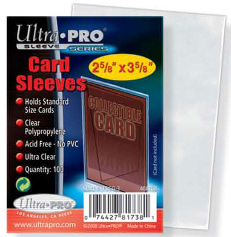Ultra Pro Card Sleeves - 100ct Pack