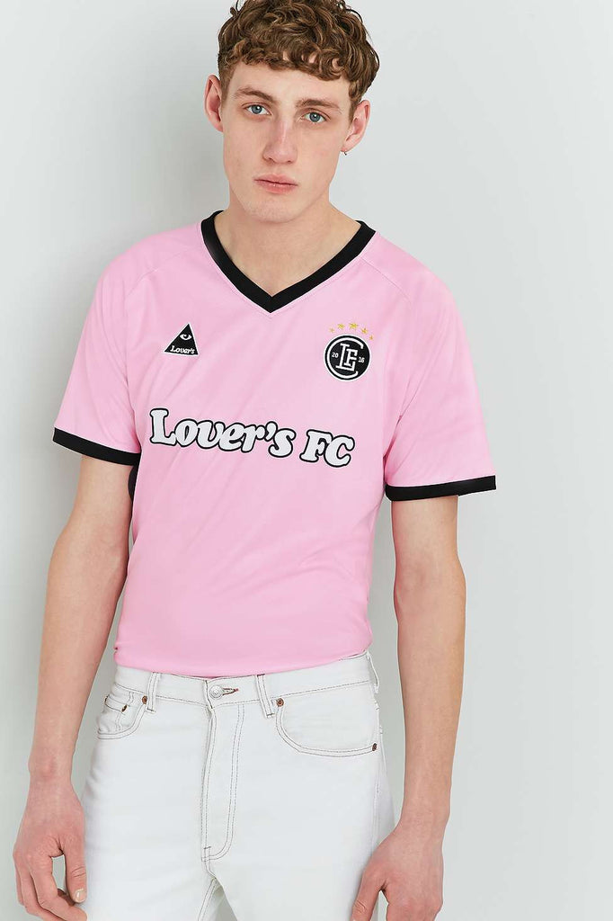 A Lover's Guide Presents Lover's F.C Football Shirt range at Urban Outfitters