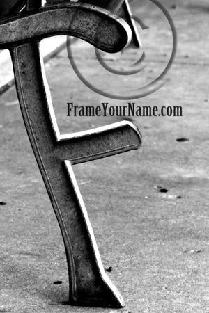 Letter Art Name Art Letter F Letter Art Printable Art Alphabet Photo Instant Download Letter F - F05