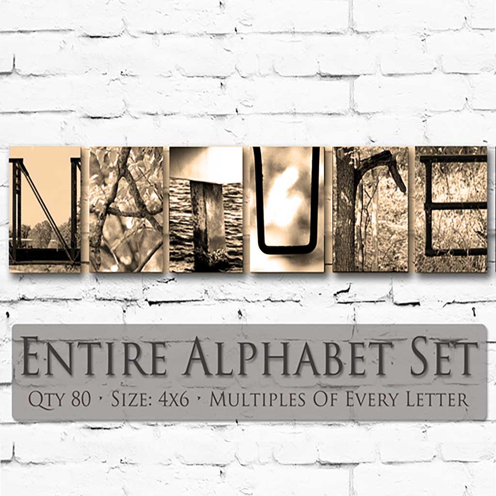 Nature Letter Art Theme. Entire Alphabet - 80 Photos