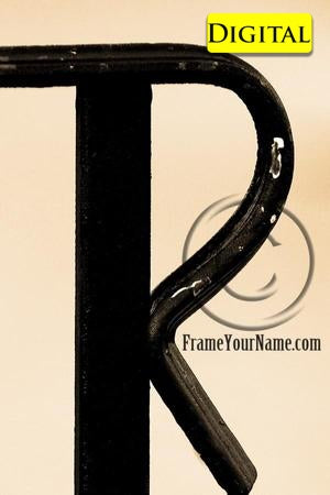 Letter Art Name Art Letter R Letter Art Printable Art Alphabet Photo Instant Download Letter - R10