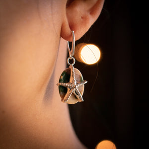 Jasper Star Earrings