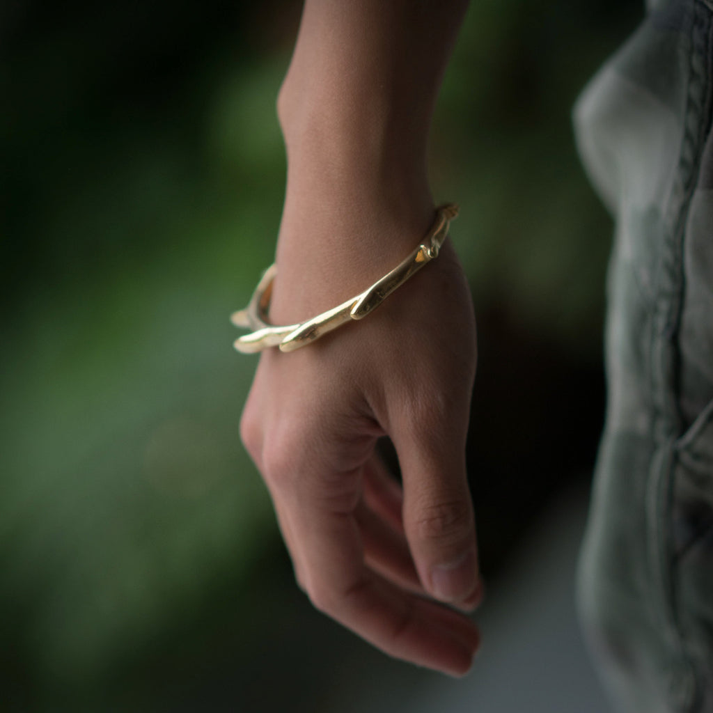 Sea Dragon Cuff - Yellow Gold Vermeil
