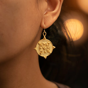 Circle Circle Dot Dot Earrings - Yellow Gold Vermeil