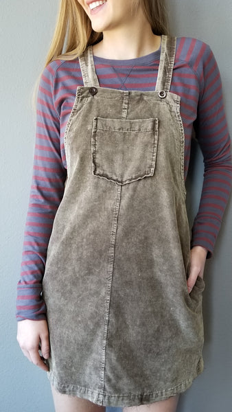 Distressed Corduroy Coveralls