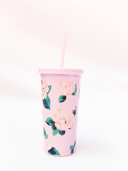 Sip Sip Tumbler with Straw, Lady of Leisure