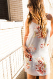 Silver Grey Floral Shift Dress