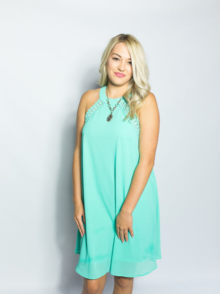 Jade Lace Shift Dress