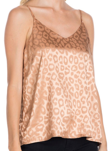 Butterscotch Animal Print Satin Cami