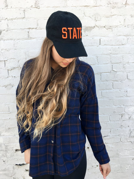 STATE Hat-Black/Orange