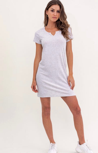 Light Grey Rib Mini Dress