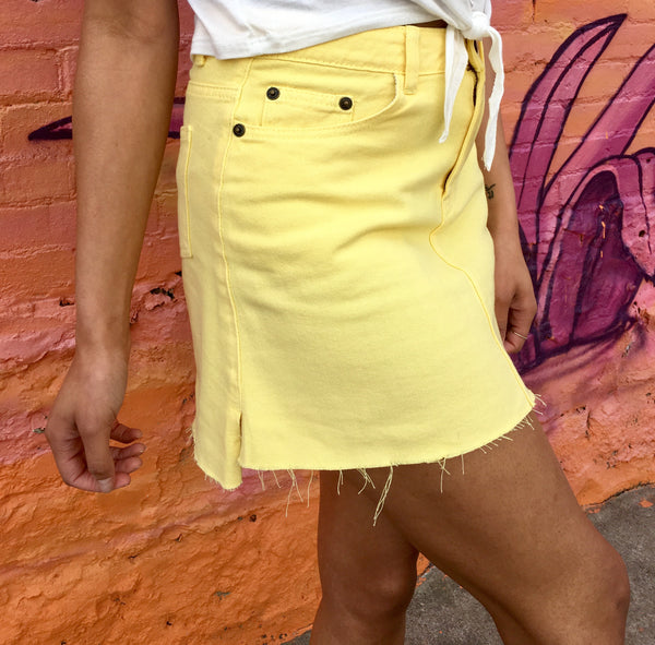 Lemon Drop Denim Skirt