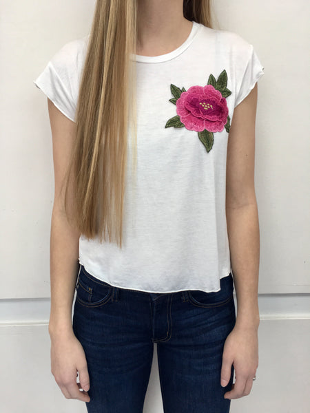 White Rose Patch Tee