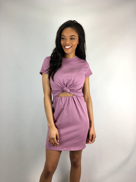 Orchid Cut-Out Knot Dress