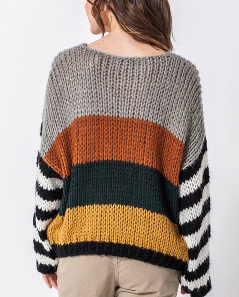 Rust Multi Sweater