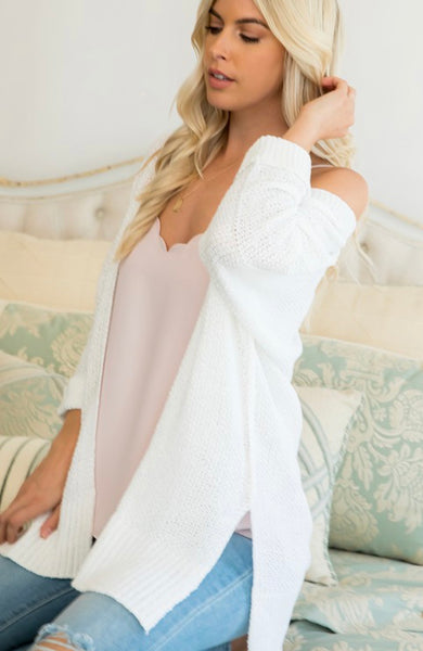 Ivory Relaxed Fit Sweater Cardigan