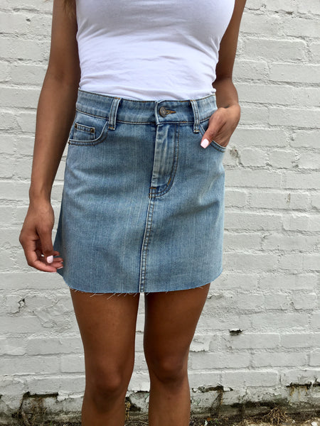 Denim Asymmetric Skirt