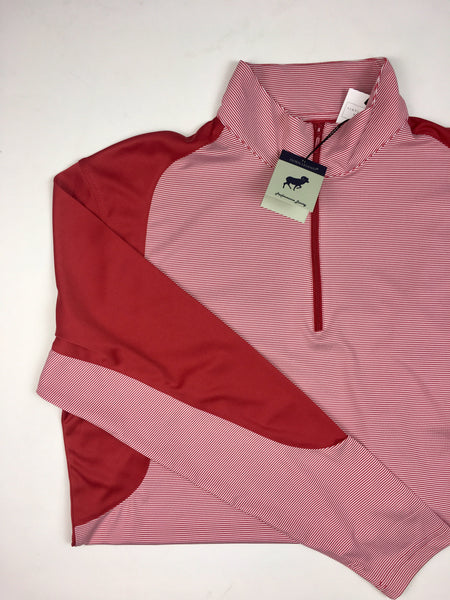Crimson/White 1/4 Zip Pullover
