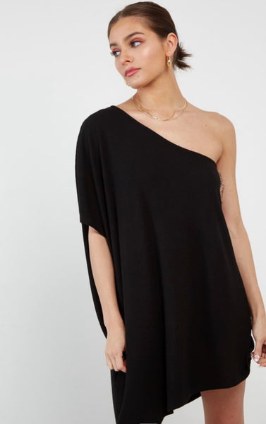 Black 1 Shoulder Dress