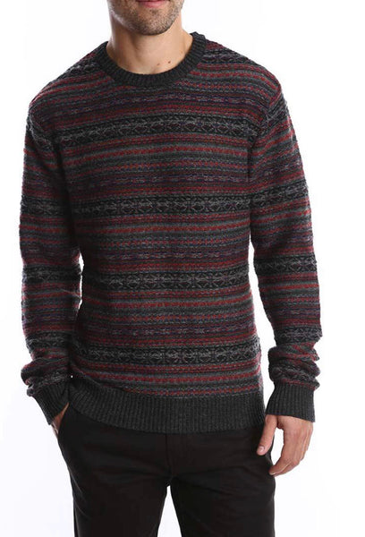 Charcoal Merion Wool Sweater