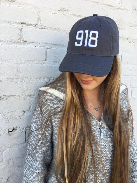 918 Hat-Charcoal/Natural