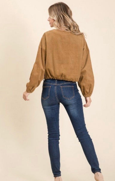 Taupe Corduroy Top