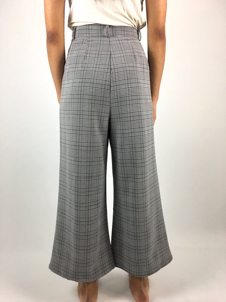 Grey Plaid Trouser