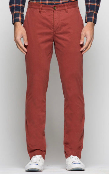 Red Bowie Stretch Chino Pant
