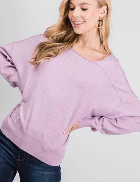 Lavender Over Sized Sweater