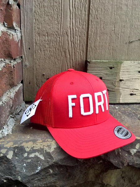 FORT Trucker-Red/White
