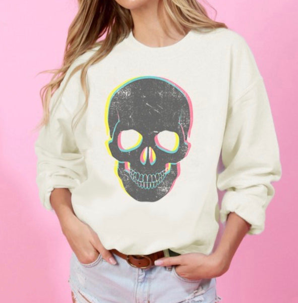 Skull Graphic Sweatshirt