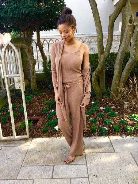 Taupe Pant 3 Piece Set