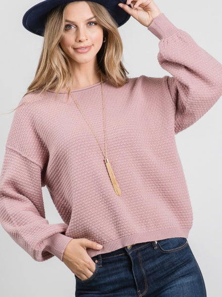 Mauve Cloud Sweater