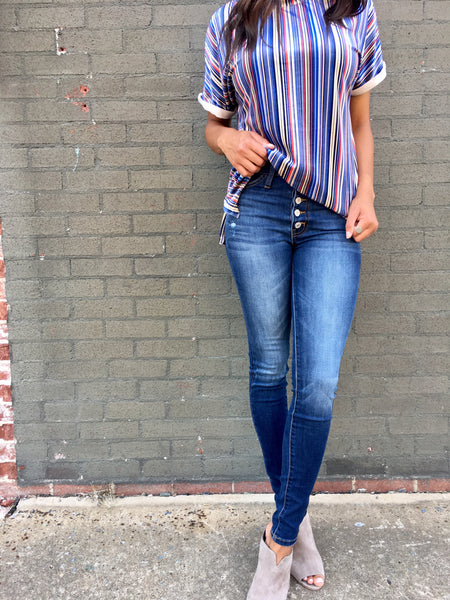 High Rise Button Up Jean