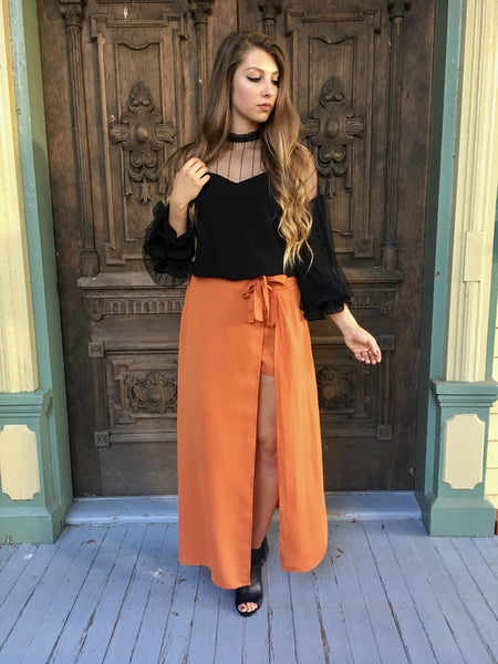 Ginger Shorts with Maxi Skirt