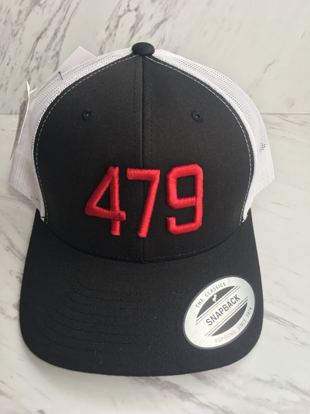 479 Hats-Black/White/Red Trucker