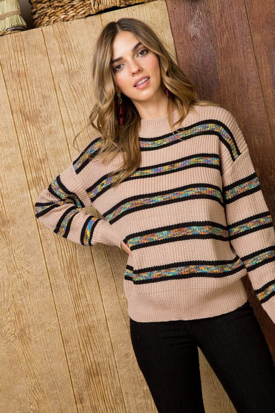 Taupe Dolman Sweater