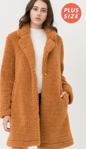 Cinnamon Teddy Bear Jacket PLUS