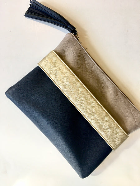 Klutch Color Block Hand-Strap Navy