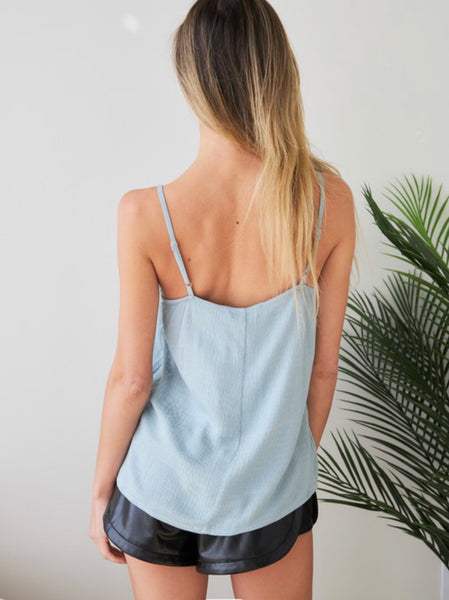 Sage Pleated Front Cami