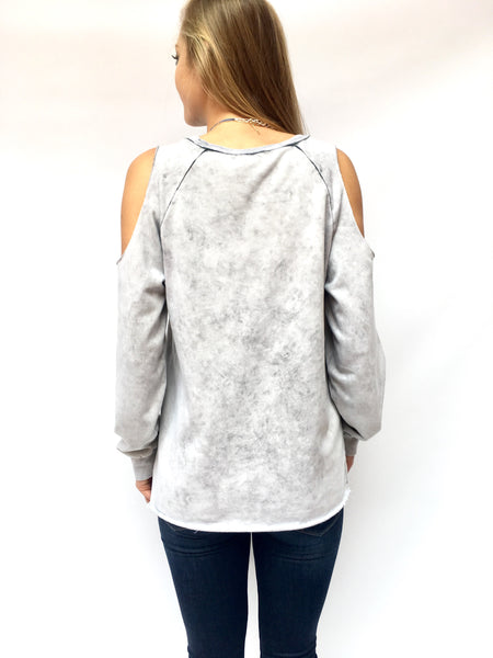 Washed Silver Vintage Top
