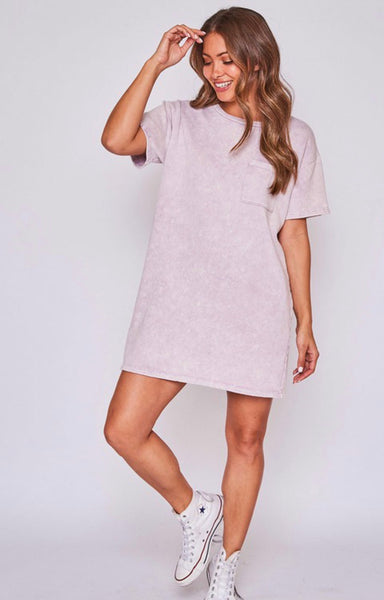 Dusty lavender T Shirt Dress