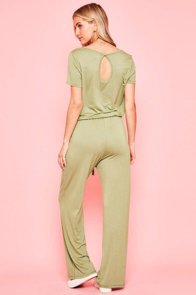 Olive Jumpsuit Pockets